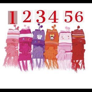 NWT Gurl's Beanie Gloves Hat Sets